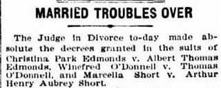 Married troubles over