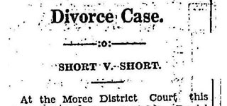 DIVORCE CASE - SHORT VS SHORT