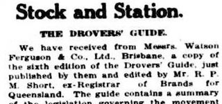 Stock and Station - The Drovers' Guide