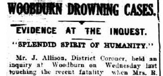 Woodburn Drowning Cases
