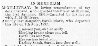 In Memorium (Weekly Times (Melbourne, Vic. : 1869 - 1954), Saturday 17 February 1894, page 11)