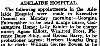 Appointments at Adelaide Hospital