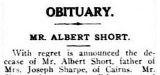 Obituary - Mr Albert SHORT