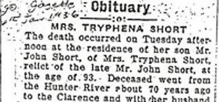 Obituary: BOORMAN, Tryphena