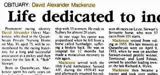 "David Alexander ""Alex"" MACKENZIE"