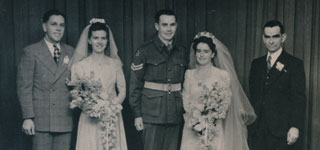 COPP, Clive Thomas (centre); SHORT, Elsie Isobel (centre right); SHORT, David Spicer (right)